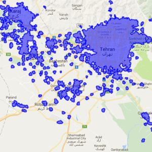 پوشش دهی اینترنت نسل4 اپراتور ایرانسل در استان تهران