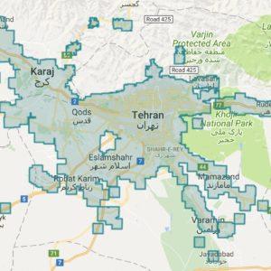 پوشش دهی اینترنت نسل 4 اپراتور همراه اول در استان تهران